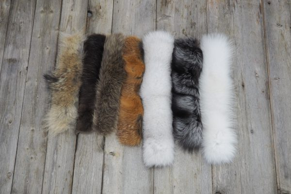 Natural colour fur strips